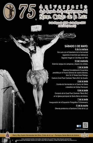 75 años de la llegada de la actual imagen del Santo Cristo de la Luz
