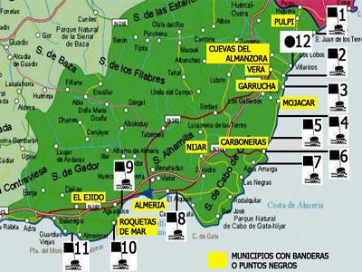 Jpeg 137kb ecologistas en accin coloca 31 banderas negras en almera