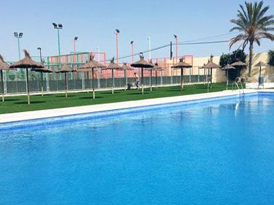 Almeria24h arboleas las instalaciones de la piscina for Piscina municipal almeria