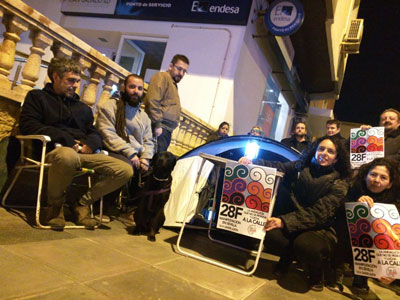 almeria24h almera un grupo de activistas acamparon