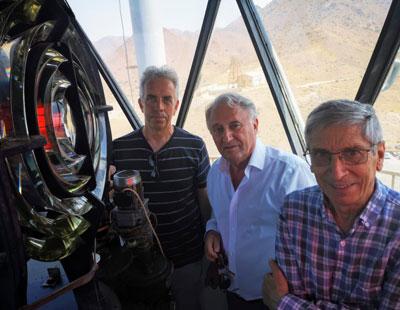 Noticia de Almería 24h: El presidente de la Autoridad Portuaria visita el faro de Cabo de Gata