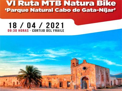 Noticia de Almería 24h: El Parque Natural Cabo de Gata-Níjar acogerá el domingo 18 de abril la VI Ruta MTB Natura Bike