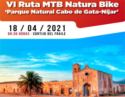 Noticia de Almería 24h: 350 ciclistas participan durante todo el fin de semana en la VI Ruta MTB Natura Bike en el Parque Natural Cabo de Gata-Níjar
