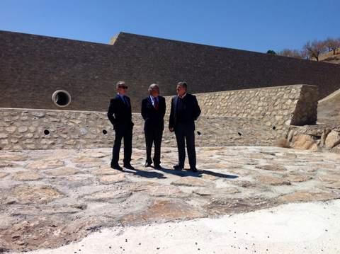 La CHS construye once grandes diques contra avenidas en la rambla de Nogalte en Vélez Rubio