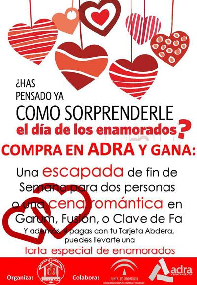 Almeria24h adra el comercio abderitano sortea un fin de semana rom ntico cenas y tartas por - Un fin de semana romantico ...